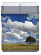 Dramatic Clouds And The Tree Duvet Cover