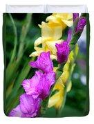 Dramatic Gladiolus Duvet Cover