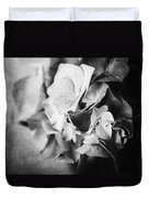 Dramatic Hydrangea In Black And White Duvet Cover