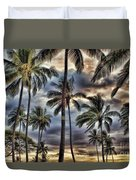 Dramatic Maui Sunset Duvet Cover