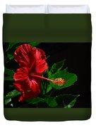 Dramatic Red Hibiscus Duvet Cover