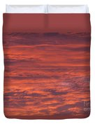 Dramatic Red Sky Duvet Cover