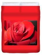 Dramatic Red Rose  Duvet Cover