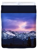 Dramatic Sawtooth Sunset Duvet Cover