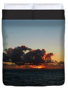Dramatic Sea Sky At Dawn Duvet Cover