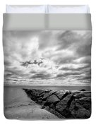 Dramatic Sky At Penfield Jetty Duvet Cover