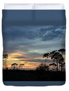 Dramatic Sunset In The Cove Duvet Cover