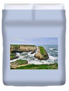 Dramatic View Of Shark Fin Cove In Santa Cruz California. Duvet Cover