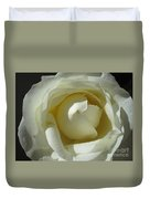 Dramatic White Rose 2 Duvet Cover