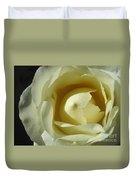Dramatic White Rose 3 Duvet Cover
