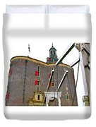 Drawbridge And Tower In Enkhuizen-netherlands Duvet Cover