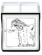 Drawing Of Christ On The Cross Duvet Cover