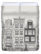 Drawn To Amsterdam Duvet Cover
