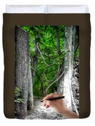 Drawn To The Woods With Imagination Duvet Cover