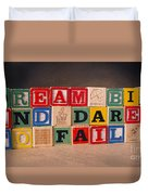 Dream Big And Dare To Fail Duvet Cover
