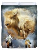 Dream Catcher - Spirit Of The White Buffalo Duvet Cover