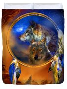 Dream Catcher - Wolf Dreams Duvet Cover