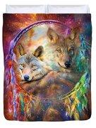 Dream Catcher - Wolf Spirits Duvet Cover