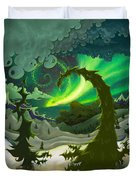 Dream Landscapes Aurora Green Duvet Cover