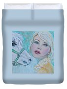 Dream On Dreamer Duvet Cover by The Art With A Heart By Charlotte Phillips