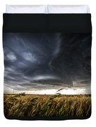 Dreamcatcher - Scenic Storm Over Kansas Plains Duvet Cover