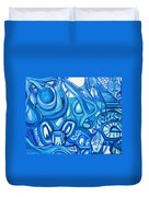 Dreaming In Blue Duvet Cover