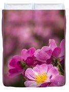 Pink Old Fashioned Rose Duvet Cover