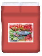 Dreaming Of Fall Bridge In Manito Park Duvet Cover