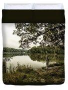 Dreaming Of Fishing At Argyle Lake Duvet Cover