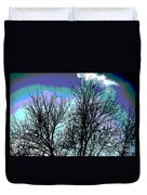 Dreaming Of Spring Through Icy Trees Duvet Cover