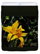 Dreams Of A Day Lily Duvet Cover