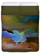 Dreams Of Blue Trees Duvet Cover