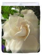Dreamy Creamy Gardenia Duvet Cover
