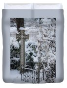 Dreamy Snowy Cross Duvet Cover