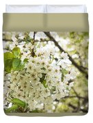 Dreamy White Cherry Blossoms - Impressions Of Spring Duvet Cover