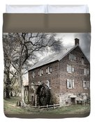 Dreary Skies At Kerr Gristmill Duvet Cover