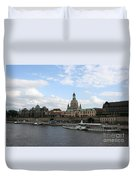 Dresden And River Elbe - Germany Duvet Cover