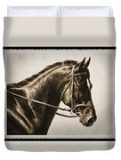 Dressage Horse Old Photo Fx Duvet Cover by Crista Forest