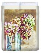 Dried Autumn Hydrangeas - Digital Paint Duvet Cover