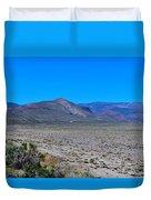 Dried Lake Beach Duvet Cover