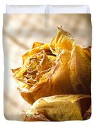 Dried Yellow Rose Duvet Cover