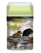 Drifting Among The Waterlilies Duvet Cover