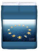 Drifting Europe Duvet Cover
