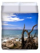 Driftwood Island Duvet Cover