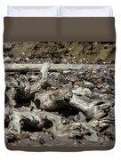 Driftwood Mt. Rainier  Duvet Cover