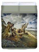Driftwood On Rialto Beach Duvet Cover