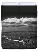 Driftwood On The Beach At Whitefish Point Duvet Cover