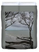 Driftwood On The Beach Duvet Cover