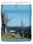 Gnarled Trees And Divide Mountain Duvet Cover
