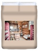 Drinking And Gambling Duvet Cover by Cat Connor